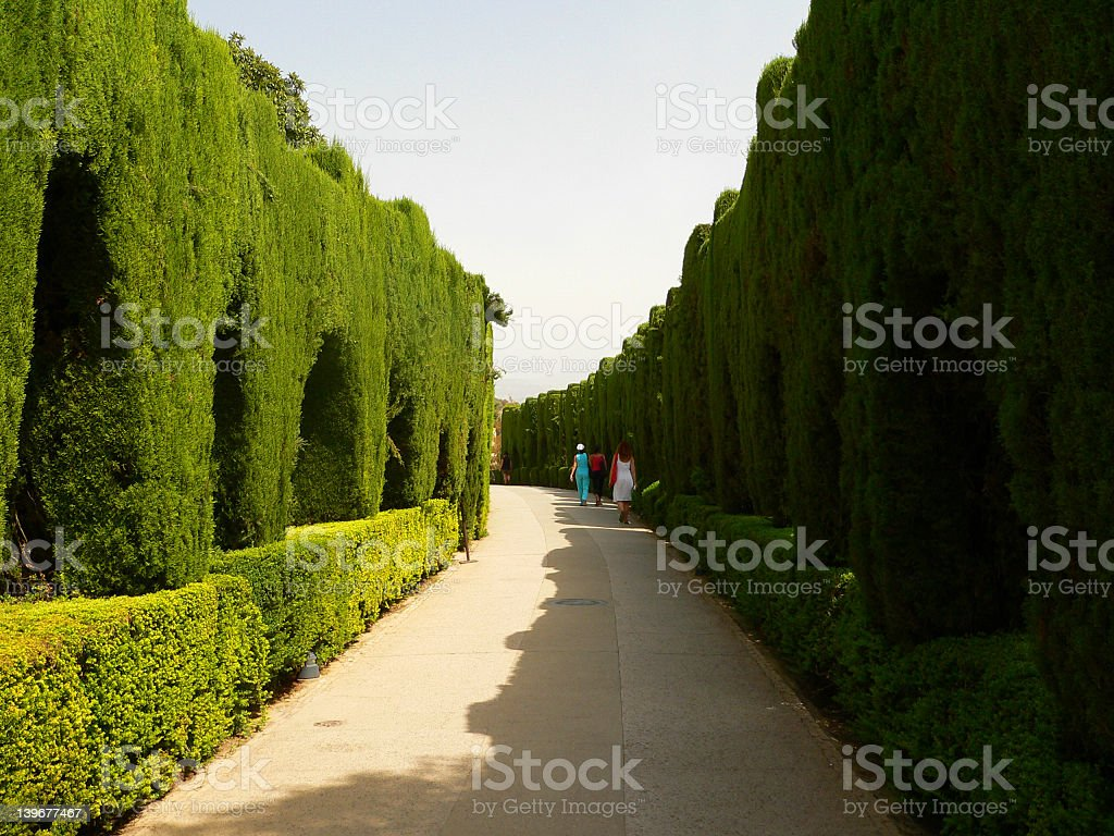 Parc avenue in Alhambra royalty-free stock photo