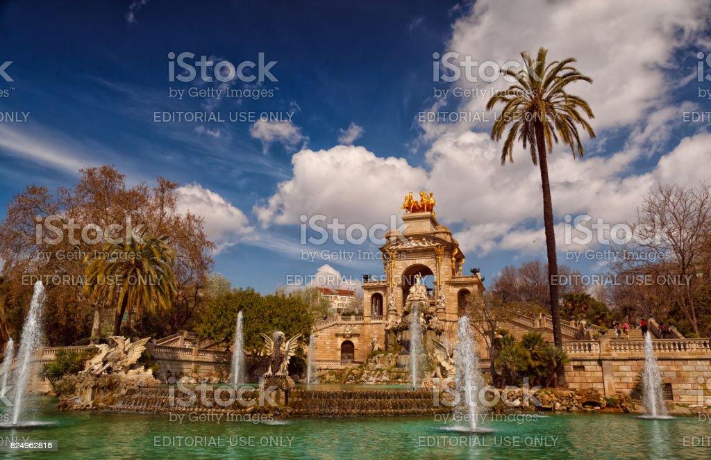 Parc de la Ciutadella - Panoramic view stock photo