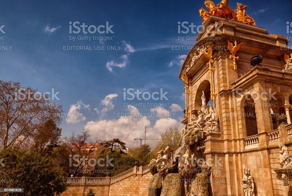 Parc de la Ciutadella - The Quadriga sculpture stock photo