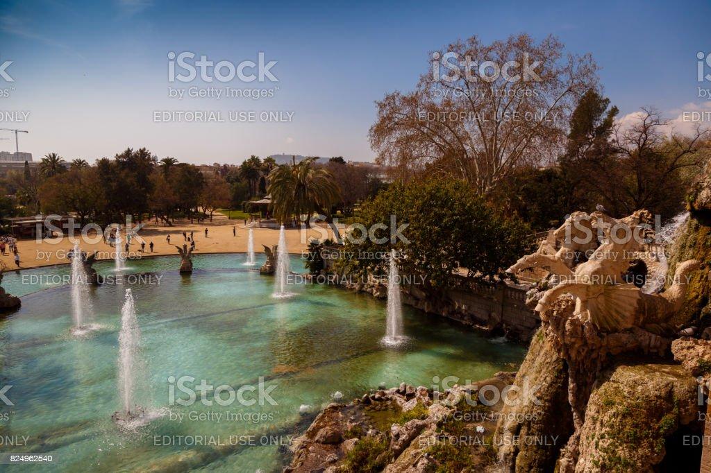 Parc de la Ciutadella - Water Fountain stock photo