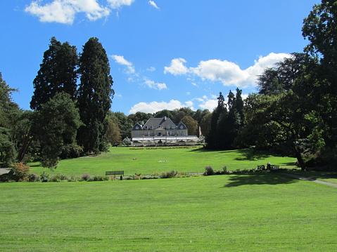 Parc De La Grange Geneva On Lake Geneva Blue Sky Stock Photo - Download Image Now