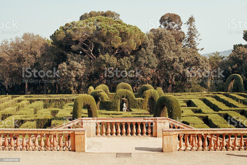 Parc del Laberint d'Horta  in Barcelona stock photo