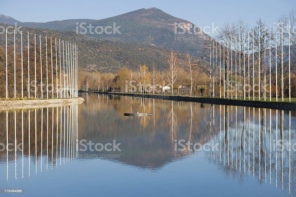 Parc del Segre stock photo