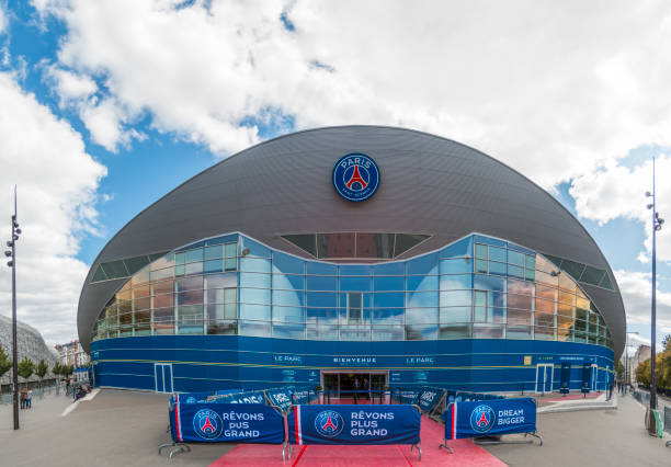 Parc des Princes the official PSG Stadium stock photo