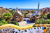 istock parc guell antoni gaudi barcelona mosaic bank bench 667478656