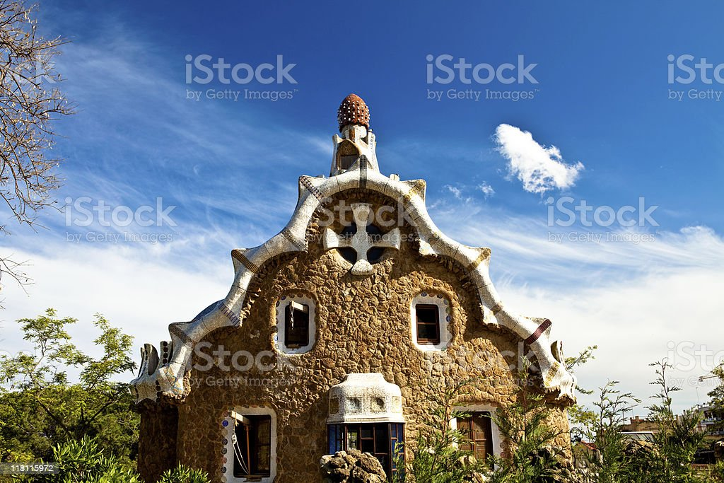 Parc Guell Barcelona royalty-free stock photo