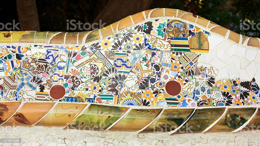 Parc Guell. Barcelona. Spain royalty-free stock photo