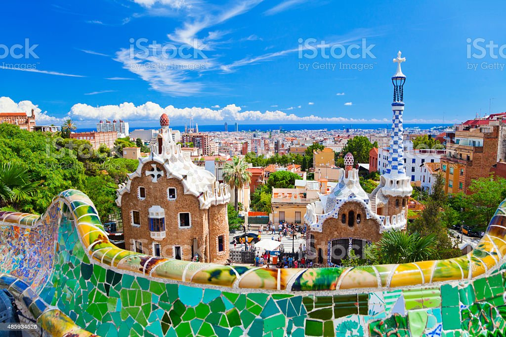 Parc Guell, Barcelona, Spain royalty-free stock photo
