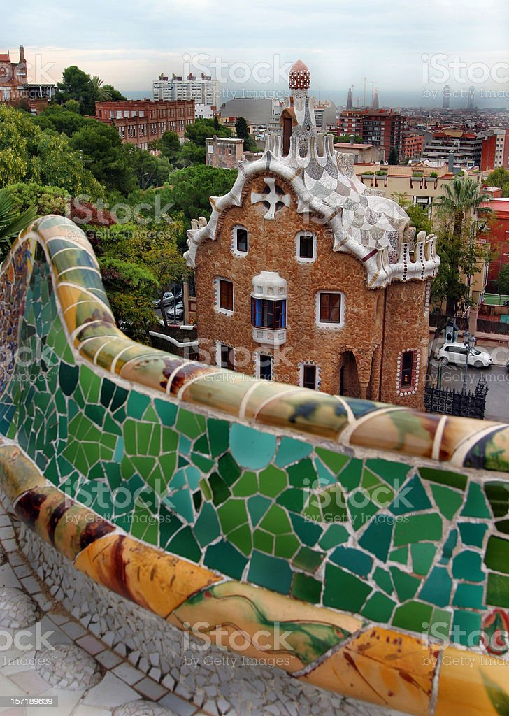 Parc Guell by Gaudi Barcelona Spain royalty-free stock photo