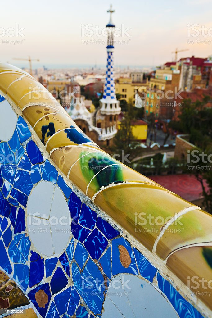 Parc Guell in Barcelona royalty-free stock photo