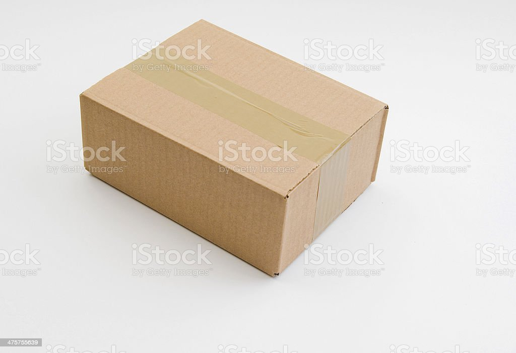 Parcel brown stock photo