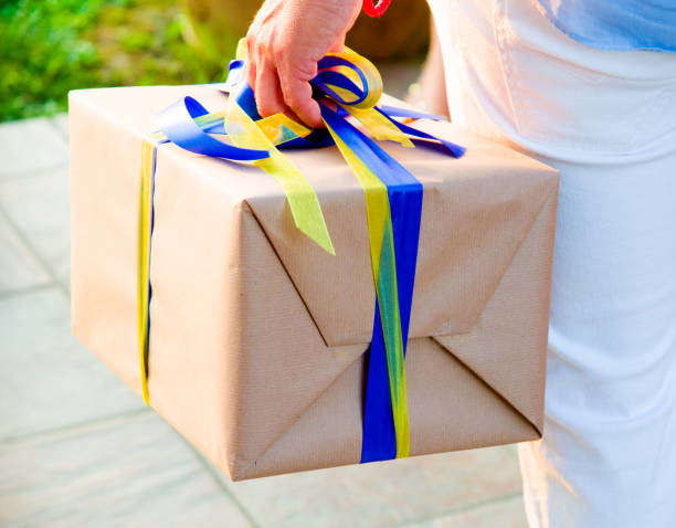 parcel delivery with what you want stock photo