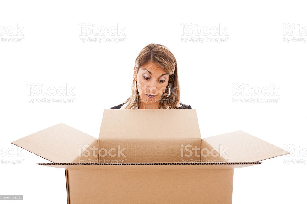Parcel surprise royalty-free stock photo