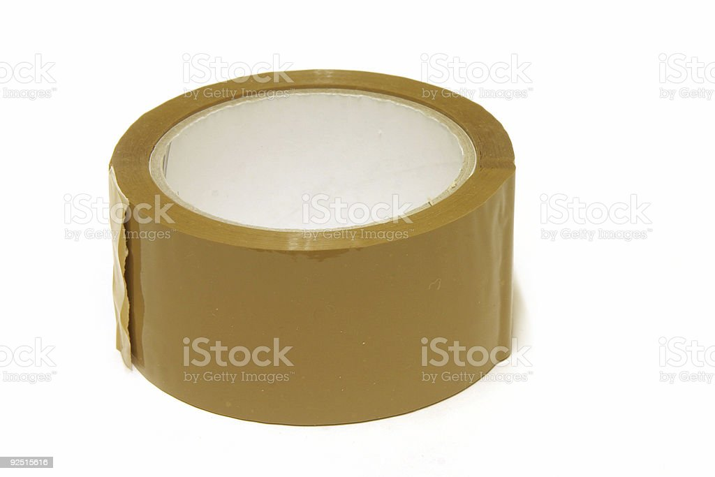 Parcel tape stock photo