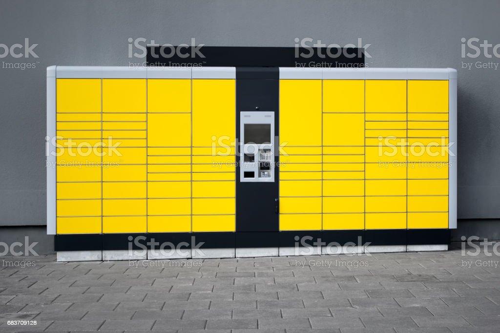 Parcel terminal stock photo