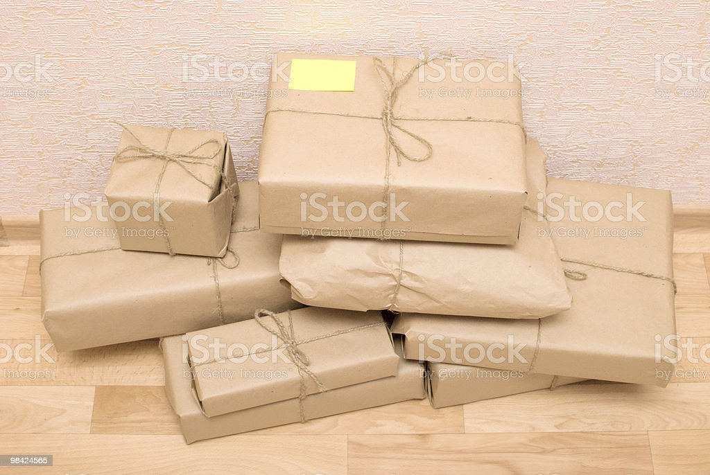 parcels royalty-free stock photo