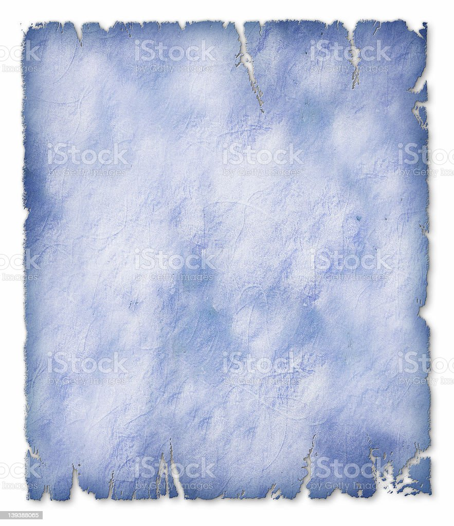 Parchment - Blue royalty-free stock photo