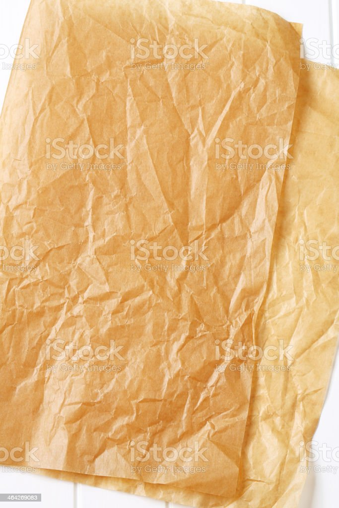 Parchment paper for baking stock photo