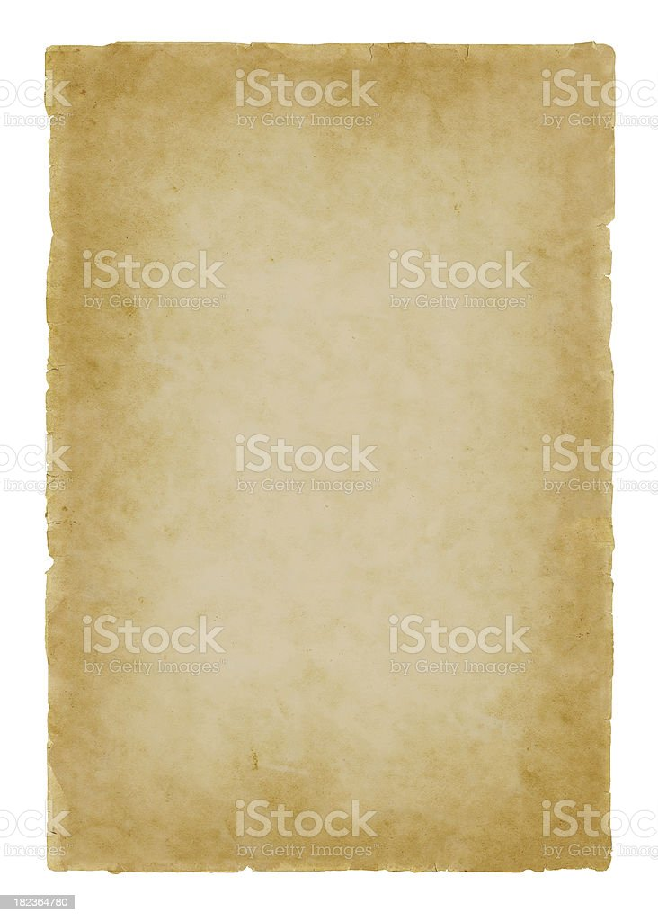 parchment paper on white royalty-free stock photo