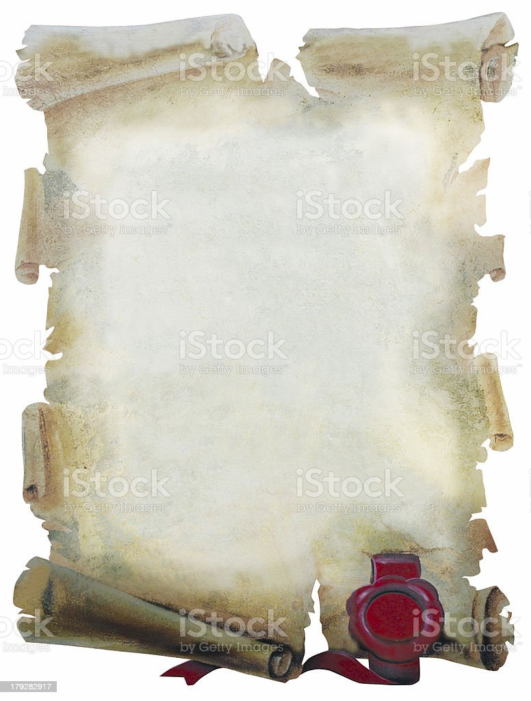parchment paper royalty-free stock photo