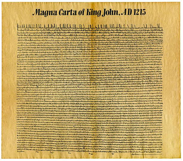 Parchment Replica the Magna Carta of King John stock photo