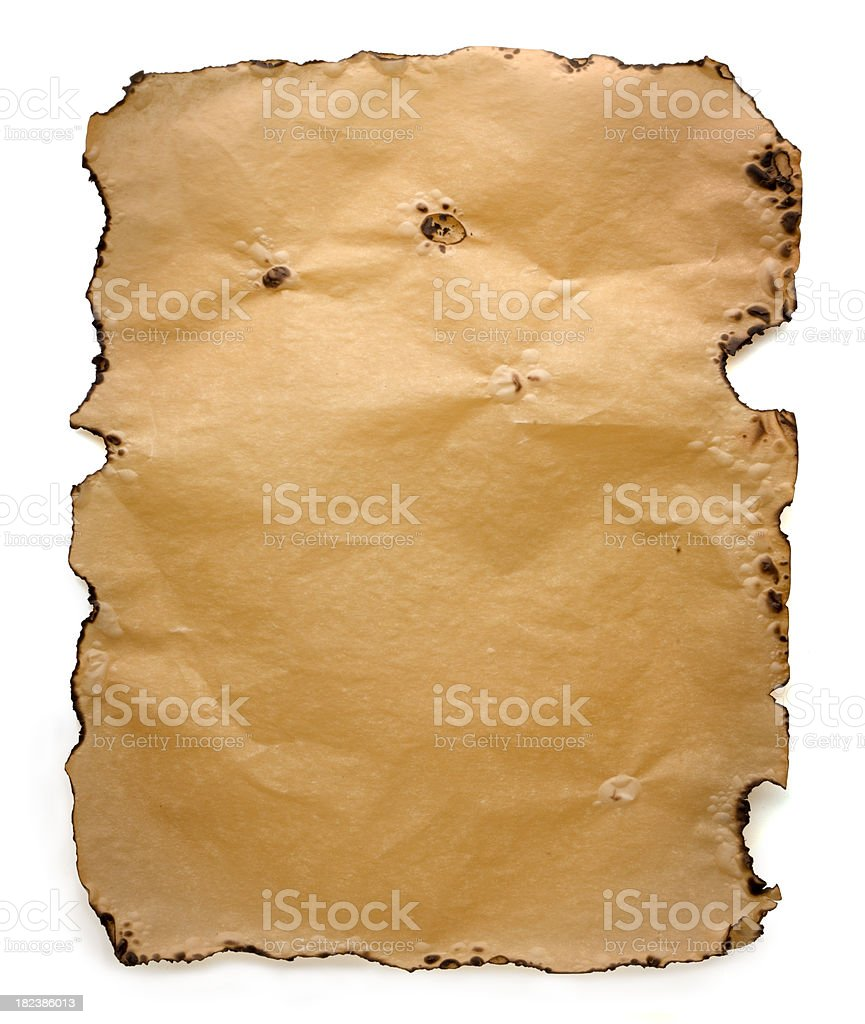 Parchment Wanted Poster stock photo