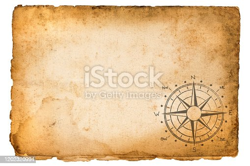 old  vintage  parchment with compass rose