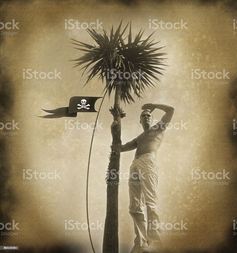 parchment with pirate royalty-free stock photo