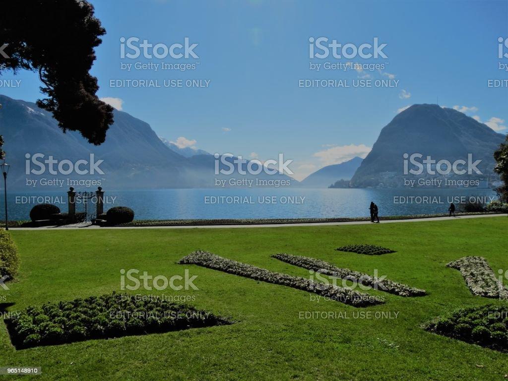 Parco Civico, Lugano, Switzerland royalty-free stock photo