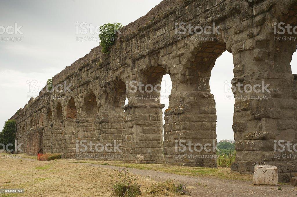 Parco degli Acquedotti (Aqueduct Park) Roma - Italy royalty-free stock photo