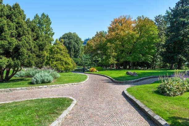 Parco del Valentino in Turin, Italy. stock photo