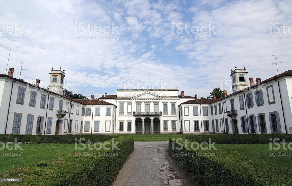 Parco di Monza (Milan), Exterior of historic palace stock photo