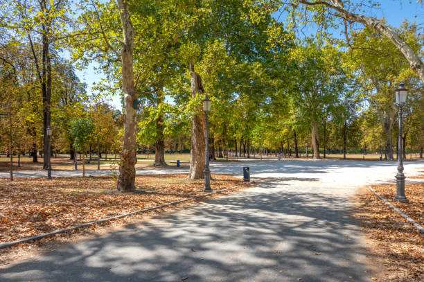 Parco Ducale park in Parma, Italy stock photo