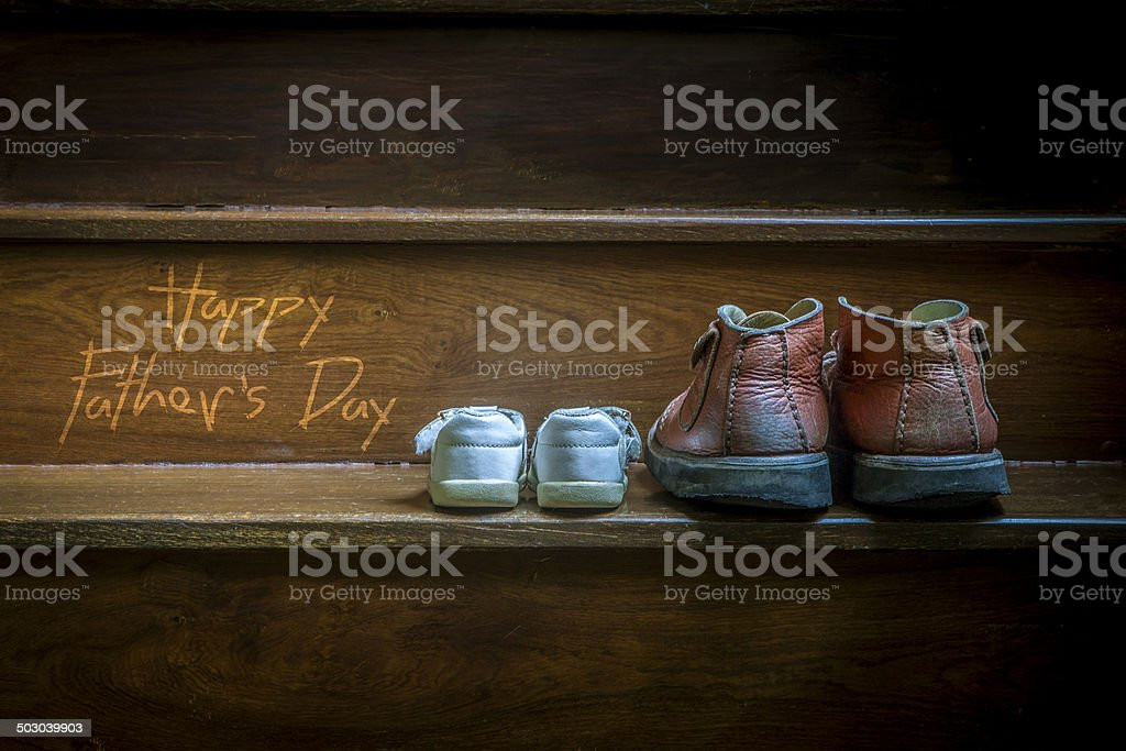 Parent and child shoes - Father's Day stock photo
