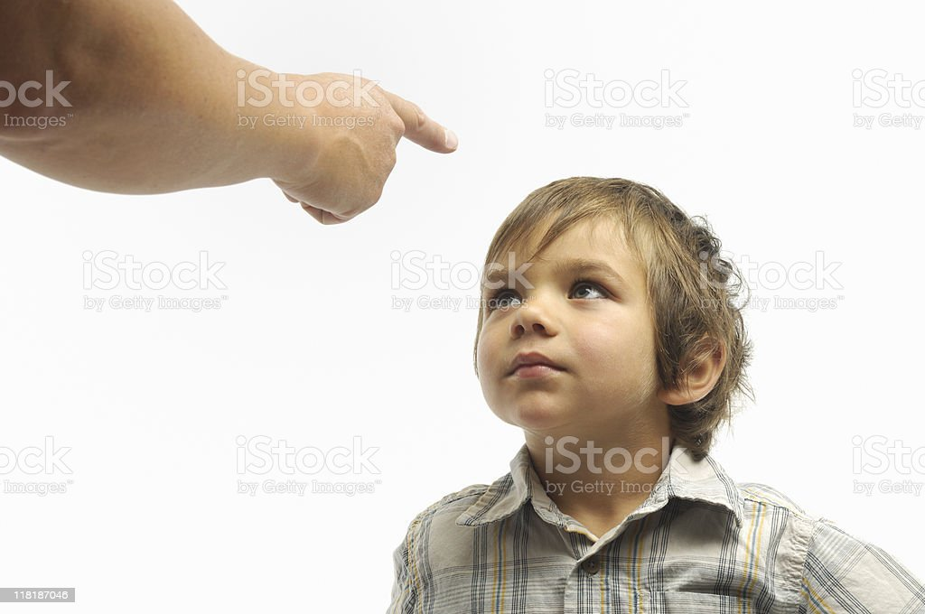 Parent scolding child stock photo