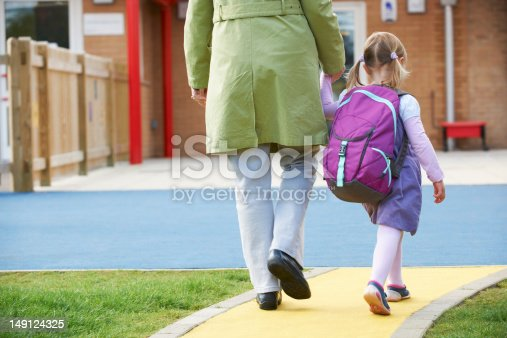 istock Parent Taking Child To Pre School 149124325