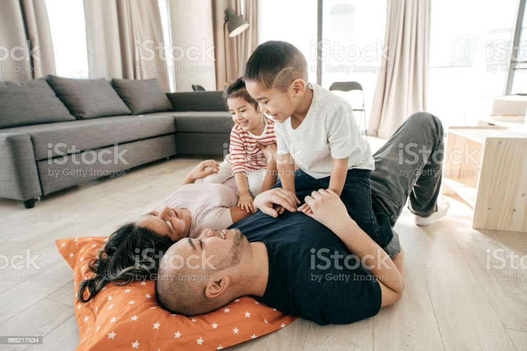 Parental influence to kids royalty-free stock photo
