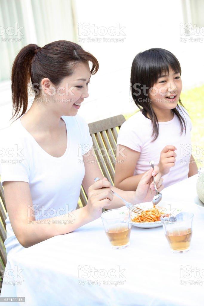 父-子飯 免版稅 stock photo