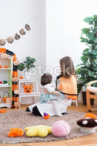istock Parent-child room decorations for Halloween 657453074