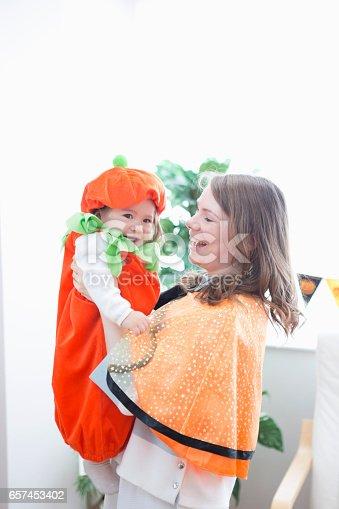 istock Parent-child room decorations for Halloween 657453402