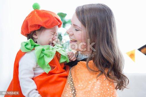 istock Parent-child room decorations for Halloween 657453424