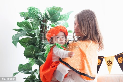 istock Parent-child room decorations for Halloween 657455694