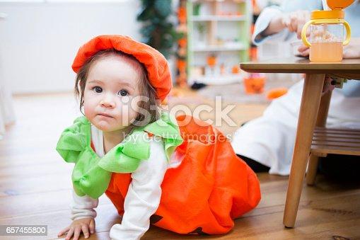 istock Parent-child room decorations for Halloween 657455800
