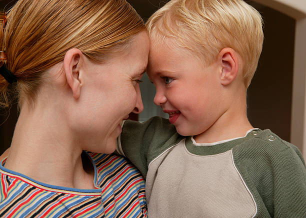 Parenting: Showing Love stock photo
