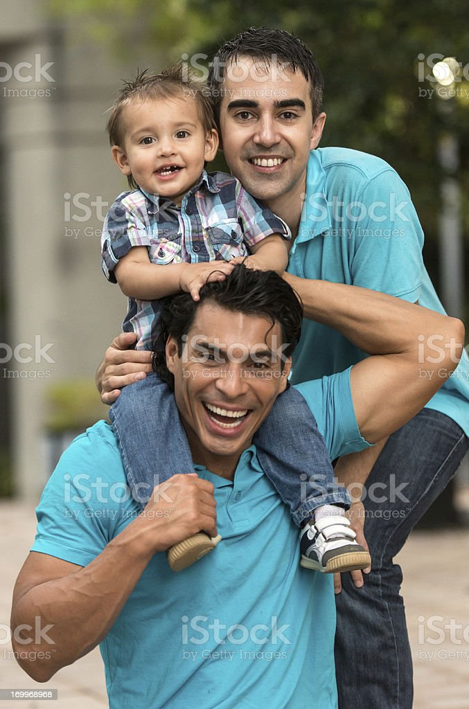 Parents and child royalty-free stock photo
