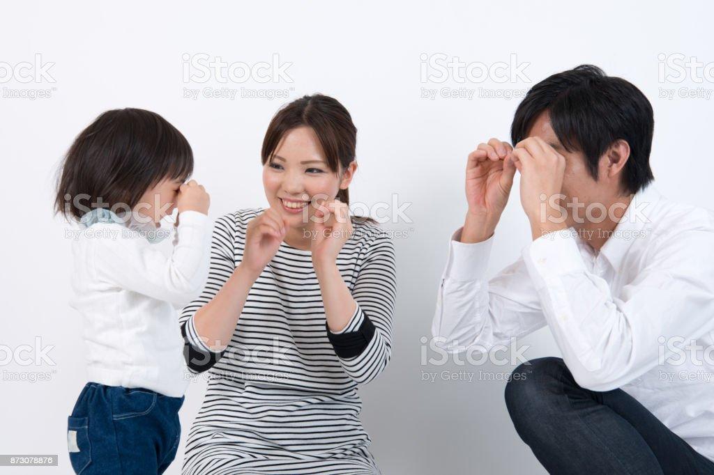 親子ダンスの練習 ストックフォト