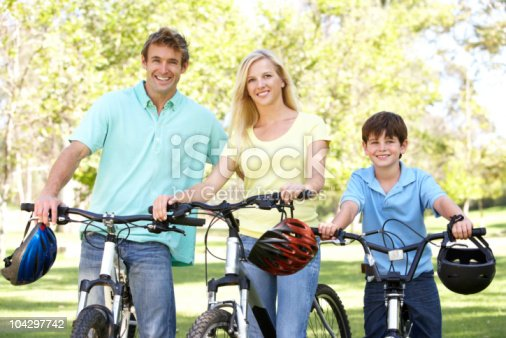 istock Parents And Son On Cycle Ride 104297742