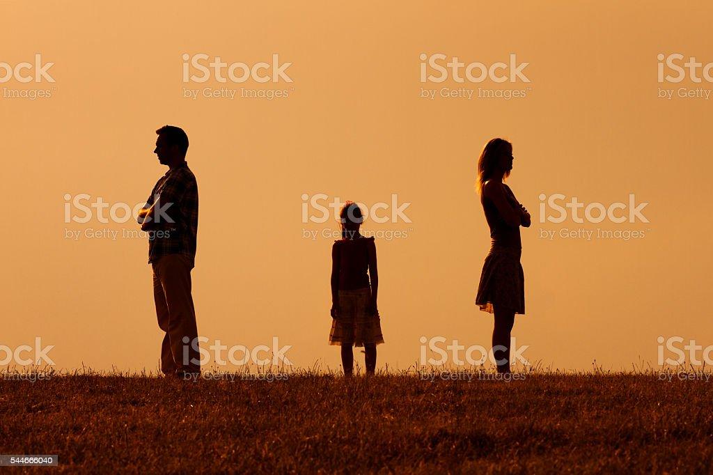 Parents conflict stock photo