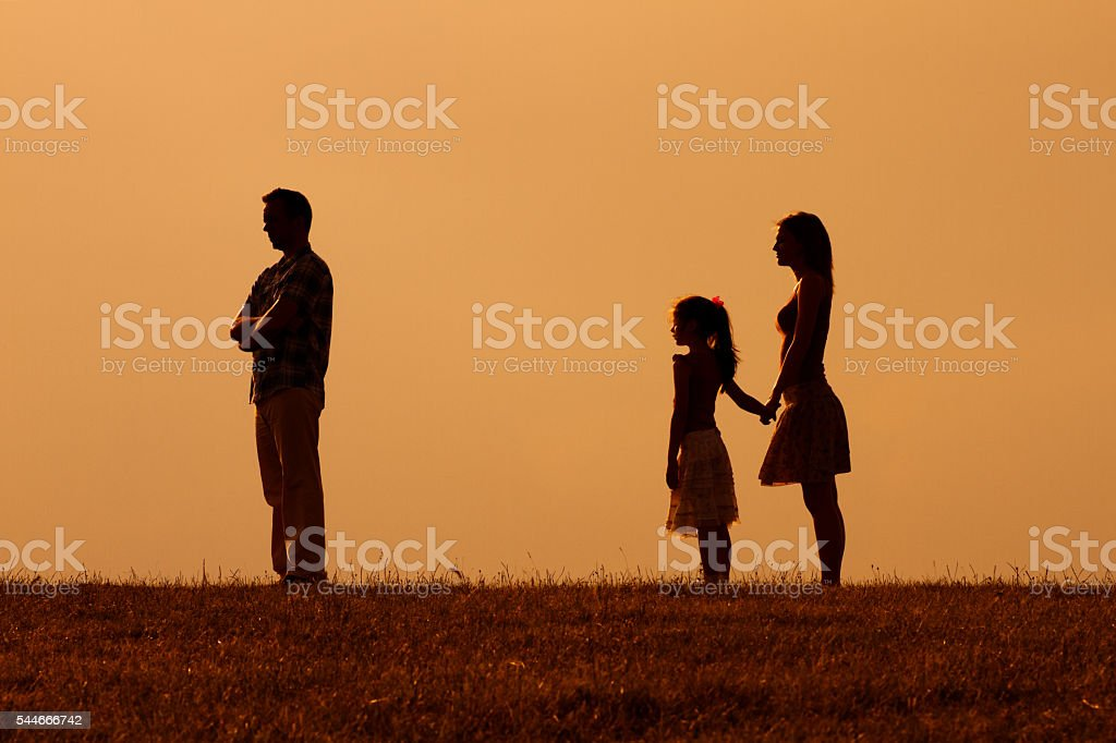 Parents conflict stock photo