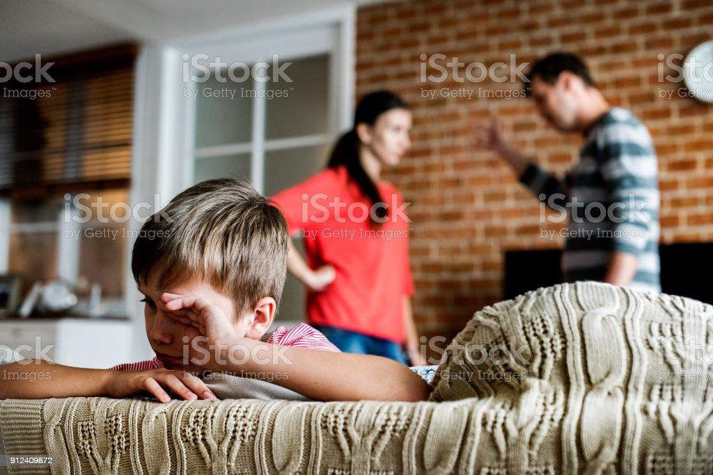 Parents fighting stock photo